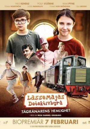 Filmposter för LASSEMAJAS DETEKTIVBYRÅ – TÅGRÅNARENS HEMLIGHET