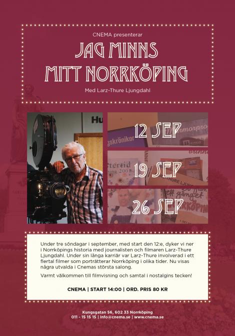 Filmposter för Jag minns mitt Norrköping – 2021-09-26T14:00:00